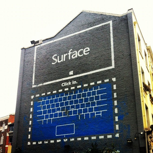 Microsoft Surface street commercial