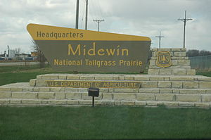 Midewin National Tallgrass Prairie - MNTP entrance.