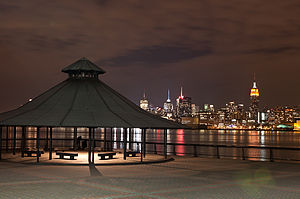 Hudson County, New Jersey - Midtown Manhattan, seen across the Hudson River from Hoboken at night