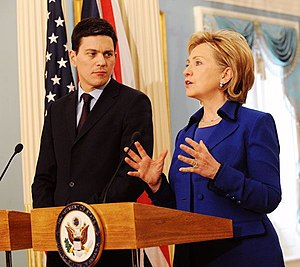 David Miliband - Miliband with U.S. Secretary of State Hillary Clinton, February 2009