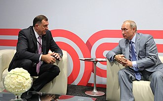 Milorad Dodik - Dodik with Vladimir Putin Sochi, Russia, 30 September 2018.