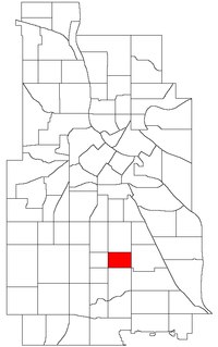 Location of Bancroft within the U.S. city of Minneapolis
