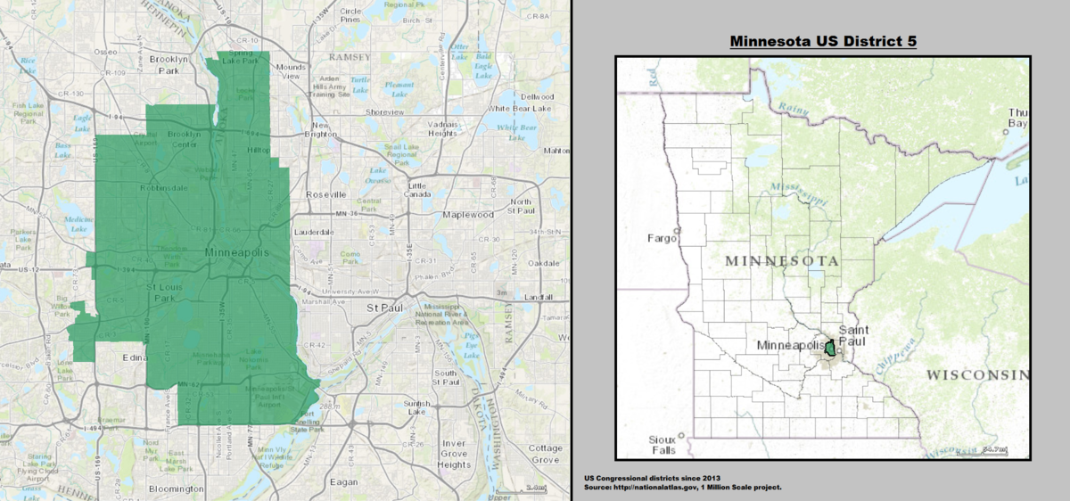 Mn On Us Map.Minnesota S 5th Congressional District Wikipedia