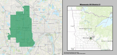 Minnesota's 5th congressional district - since January 3, 2013.