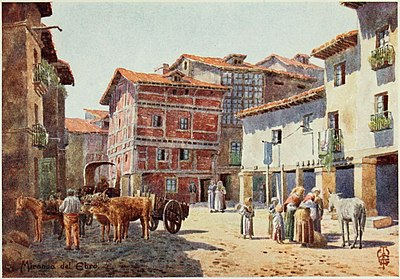 Miranda del Ebro - a corner in the town in 1906 by Edgar Thomas Ainger Wigram Miranda del Ebro - a corner in the town.jpg