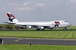 Boeing 747 MK Airlines. Foto-foto lain dapat dilihat di Galeri di bagian bawah artikel ini