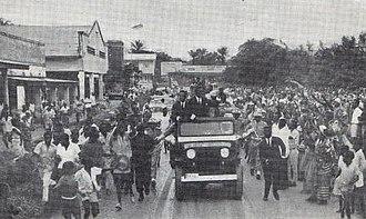 Moïse Tshombe - Prime Minister Tshombe touring Stanleyville in 1964