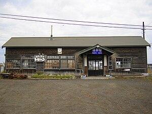 Mokoto Station - Station building occupied by a café