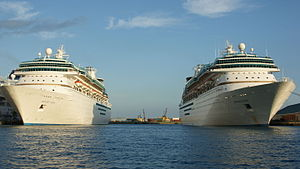 Royal Caribbean International - Majesty of the Seas and Monarch of the Seas in Nassau, Bahamas.
