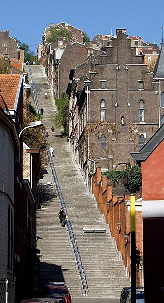 File:Montagne de Bueren - stairs - Liege 2.jpg