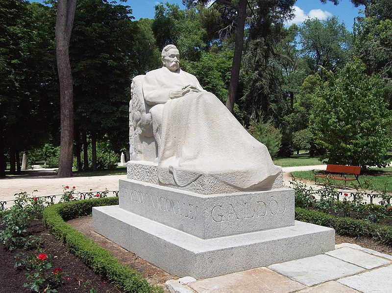 800px Monumento a Gald%C3%B3s %28Victorio Macho%2C Madrid%29 01 - 10 mai 2018-175 ani de la naşterea lui GALDÓS, BENITO PÉREZ (d.1920) a fost un romancier, dramaturg, istoric și politician spaniol...