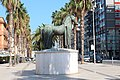 Monumento equestre in corso Vittorio Emanuele da lontano 3.jpg
