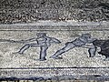 Mosaic floor with scenes of men wrestling in the Polygonal Building, Ancient Dion (6952468982).jpg