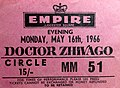Movie ticket London 1966.JPG