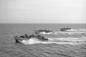 Motor Torpedo Boat - MTBs returning from an anti-E-boat patrol, June 1944