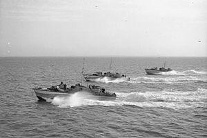 Motor Torpedo Boat - MTBs returning from an anti-E-boat patrol, June 1944