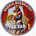 Mule Ear tobacco label, 1872.jpg