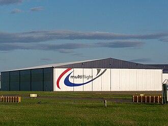 Leeds Bradford Airport - Multiflight aircraft hangar.