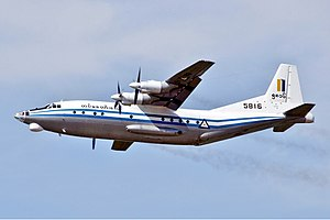 Myanmar Air Force - A Shaanxi Y-8 lifts off from Yangon International Airport