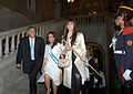 Néstor Kirchner Cristina Fernández de Kirchner y Florencia Kirchner 2007-12-10.jpg