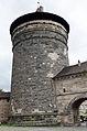 Nürnberg, Stadtmauer, Spittlertorzwinger, Spittlertorturm, 002.jpg
