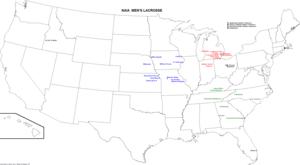 map of varsity naia men s lacrosse teams