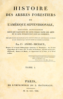NAS-000f The North American Sylva, Vol. I, title page.png