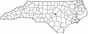 Angier, North Carolina - Image: NC Map doton Angier