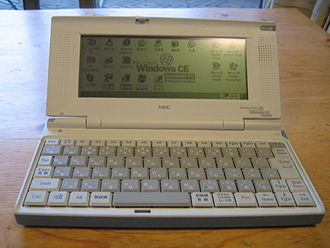 NEC - NEC Mobile Gear II MC/R330 handheld computer running Windows CE 2.0 (Japanese market, 1998)