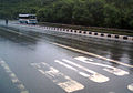 NH 5 on a rainy day at Zoo Park in Visakhapatnam.jpg