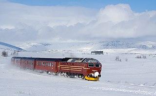 Nordland Line railway line in Norway