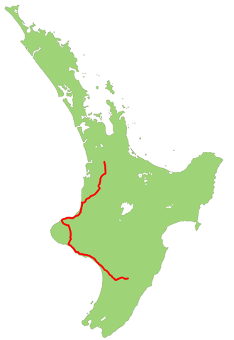 New Zealand State Highway 3 - Image: NZ SH3 map