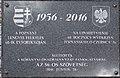 Na upamietnienie 60. rocznicy Poznańskiego czerwca '56 tablica, 2018 Kőbánya.jpg