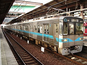 Nagoya Municipal Subway 3050 series at Kami Otai Station