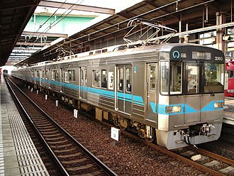 Tsurumai Line - Nagoya Municipal Subway 3050 series at Kami Otai Station