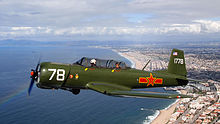 Nanchang CJ-6A Airplane over California Coastline N4183E 20110219.jpg