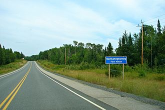 Naotkamegwanning First Nation - Whitefish Bay 32A reserve along Ontario Highway 71