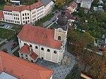 Napajedla, kostel, letecký pohled.jpg