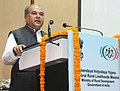 Narendra Singh Tomar addressing at the presentation of the National Awards for Best Performing Women Self-Help Groups and Village Organisations under DAY-NRLM, in New Delhi.jpg
