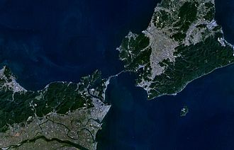 Naruto Strait - Naruto strait as seen from space