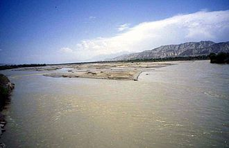 Naryn River - The Naryn River near the town of Naryn