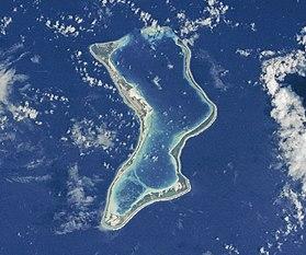 Image satelite de Diego Garcia.