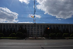 Monument to the Victims of the Soviet Occupation - Image: National Assembly, Chisinau, Moldova (7992625612)