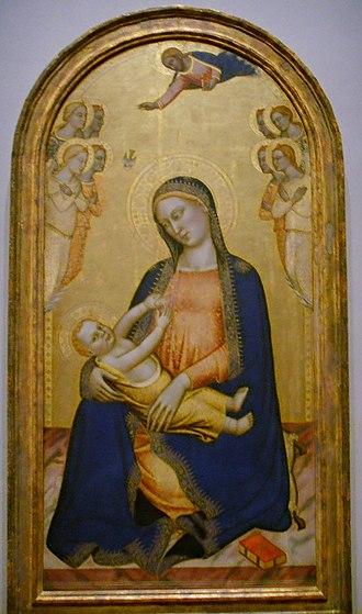 Jacopo di Cione - Image: National gallery in washington d.c., orcagna e jacopo di cione, madonna col bambino e angeli, ante 1370