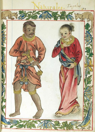 Jayadewa - A possible image of a Lakan and his consort (in the Boxer Codex)