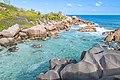 Naturschwimmbad an der Petite Anse Cocos auf La Digues, Seychellen (27825603789).jpg