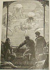 Trois hommes observant des animaux marins à travers une vitre.