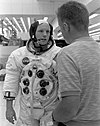 Neil Armstrong with astronaut Don L. Lind in KSC's Flight Crew Training Building.jpg