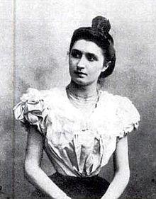Nelly Roussel en 1896.