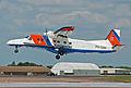 Netherlands Coastguard Dornier 228 arrives RIAT Fairford 10thJuly2014 arp.jpg